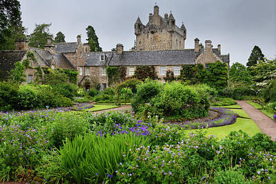 Grace Kelly - The formal Flower Garden south of Cawdor Castle after a rain in  by Reimar Gaertner