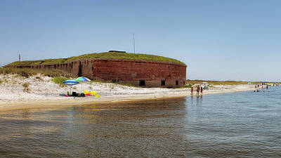 Photograph - The Fort At Ships Island by Susan Rissi Tregoning