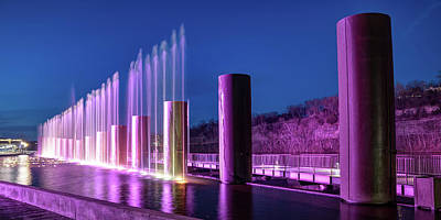 Royalty-Free and Rights-Managed Images - The Fountains at Branson Landing - Panoramic by Gregory Ballos