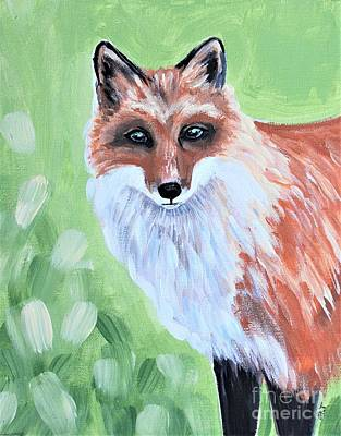 Painting - The Fox by Elizabeth Robinette Tyndall