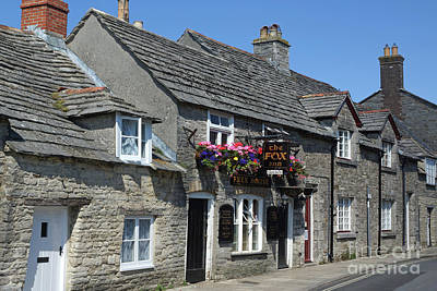Photograph - The Fox Inn At Corfe Castle by David Birchall