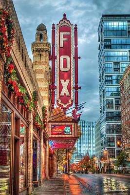 Photograph - The Fox Theatre Christmas Midtown Atlanta Georgia Art by Reid Callaway