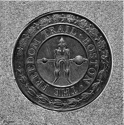 Photograph - The Freedom Trail Seal by Rob Hans