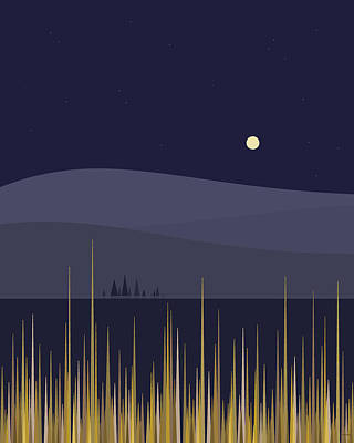 Digital Art - The Full Corn Moon by Val Arie
