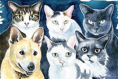 Painting - The Gang  by Dora Hathazi Mendes