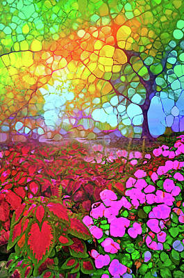 Digital Art - The Garden That Communicates In Colour by Tara Turner