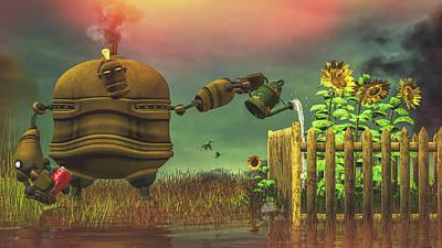 Digital Art - The Gardener by Bob Orsillo