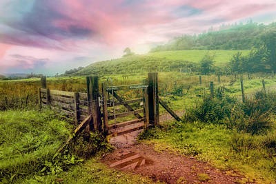 Photograph - The Gate On A Misty Morning by Debra and Dave Vanderlaan