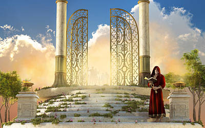 Digital Art - The Gates Of Heaven by Daniel Eskridge