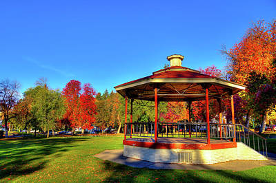 Photograph - The Gazebo At Reaney Park by David Patterson