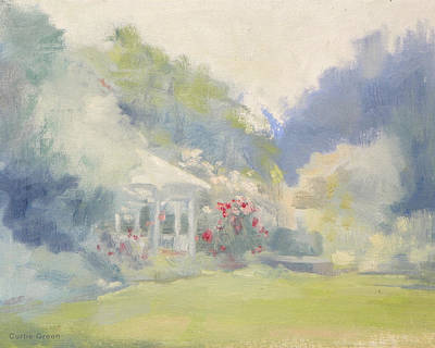Painting - The Gazebo Of The Lower Meadow by Curtis Green