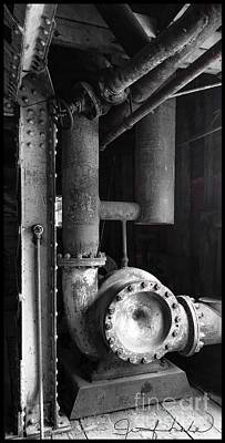 Photograph - The Gears Of The Dredge by Jennifer Lake