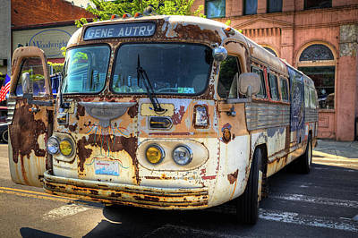 Photograph - The Gene Autry Tour Bus by David Patterson
