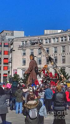 Photograph - The Giant At Derby Square by Joan-Violet Stretch