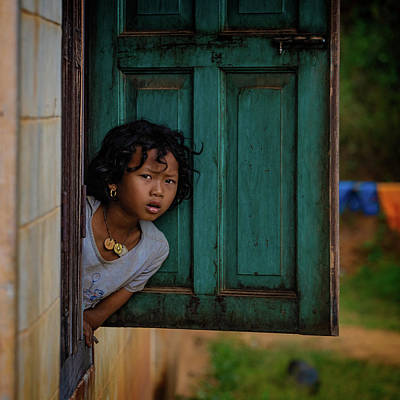 Photograph - The Girl At The Window by Chris Lord