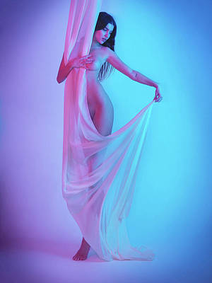 Photograph - The Girl In The Sheets by Justin Gage