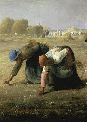 Painting - The Gleaners By Jean Francois Millet by Peter Willi