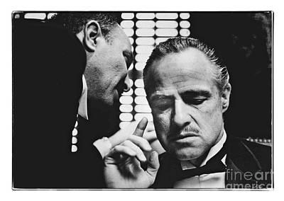 Photograph - The Godfather - Brando by Doc Braham