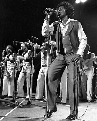 New York City Photograph - The Godfather Of Soul James Brown by New York Daily News Archive