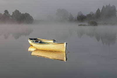 Photograph - The Golden Boats by Raymond Carruthers