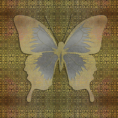 Digital Art - The Golden Butterfly by Diego Taborda