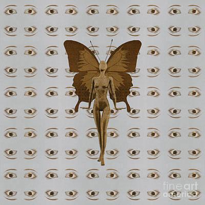 Digital Art - The Golden Fairy by Diego Taborda