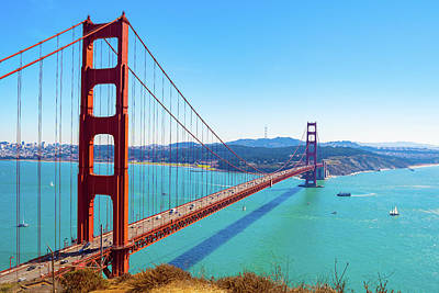 Photograph - The Golden Gate Bridge I V by Debbie Ann Powell
