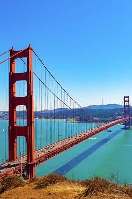 Photograph - The Golden Gate Bridge V by Debbie Ann Powell