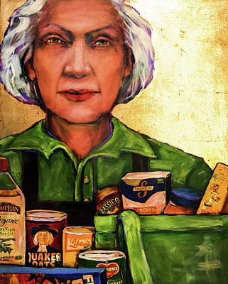 Mixed Media - The Golden Years - Grocery Bagger by Cora Marshall