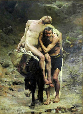 Painting - The Good Samaritan by Aime Morot