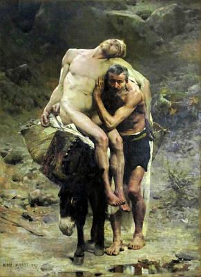 Painting - The Good Samaritan by Aime Morot