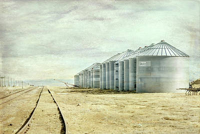 Digital Art - The Grain Bins At Taber by Ramona Murdock