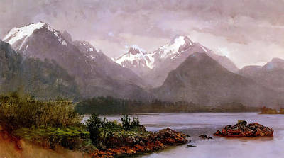Photograph - The Grand Tetons Wyoming by Albert Bierstadt