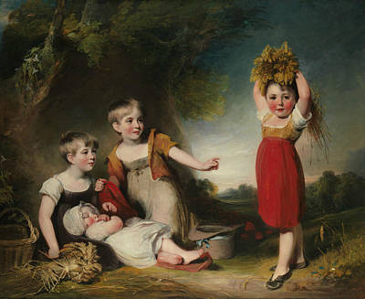 Painting - The Grandchildren Of Sir William Heathcote, 3rd Baronet by William Owen