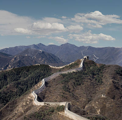 Photograph - The Great Wall At Badaling, Beijing by Ed Freeman
