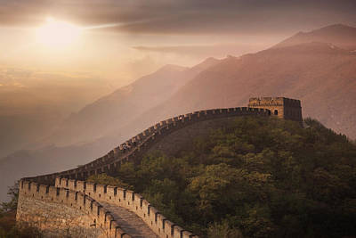 Photograph - The Great Wall At Mutianyu, Beijing by Lost Horizon Images