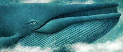 Sky Drawing - The Great Whale by Eric Fan