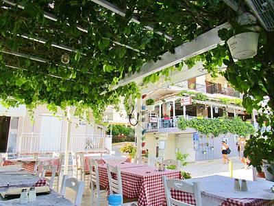 Photograph - The Greek Taverna by Rosita Larsson