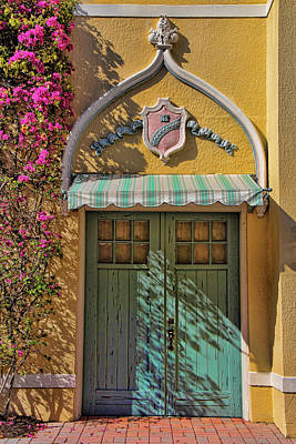 Photograph - The Green Door by HH Photography of Florida
