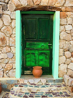 Photograph - The Green Door by Rae Tucker