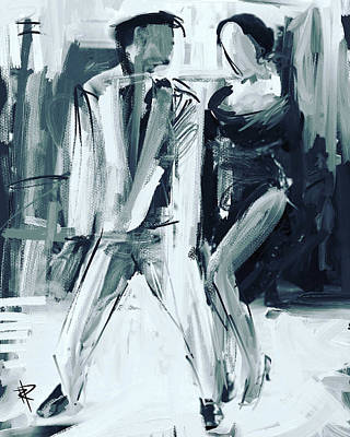 Dancer Mixed Media - The Groove by Russell Pierce