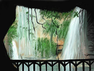 Painting - The Grotto by Jean Pacheco Ravinski