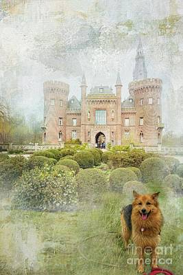 Mixed Media - The Guardian Of The Castle by Eva Lechner