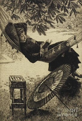 Drawing - The Hammock, 1880 By Tissot by James Jacques Joseph Tissot