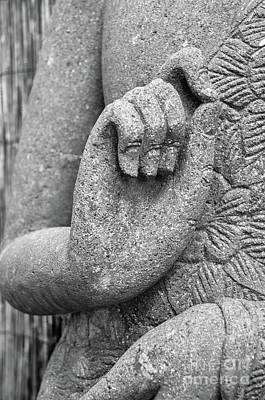 Photograph - the hand of Buddha by Michelle Meenawong