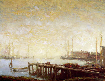 Painting - The Harbor By Henry Ward Ranger, Oil On by Superstock