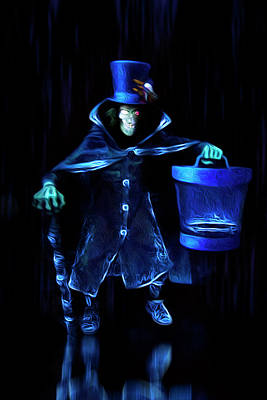 Nightmare Before Christmas Wall Art - Photograph - The Hatbox Ghost by Mark Andrew Thomas