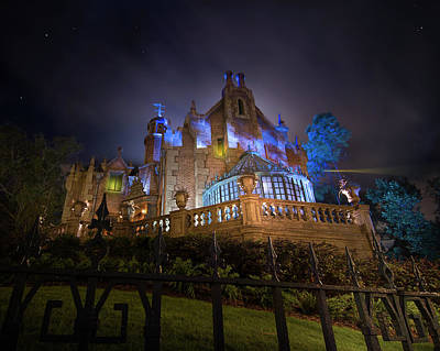 Travel Pics Royalty-Free and Rights-Managed Images - The Haunted Mansion at Walt Disney World by Mark Andrew Thomas