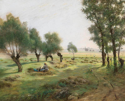 Painting - The Hay Harvest by Federico Rossano