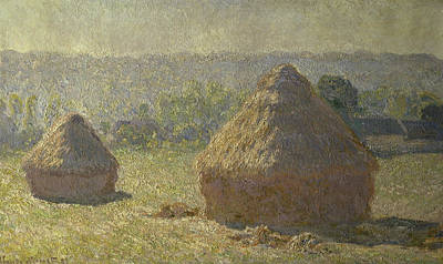 Painting - The Haystacks Les Meules C. 1891 Claude by Peter Willi
